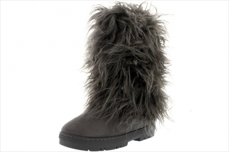 Fur Covered Shoes Design