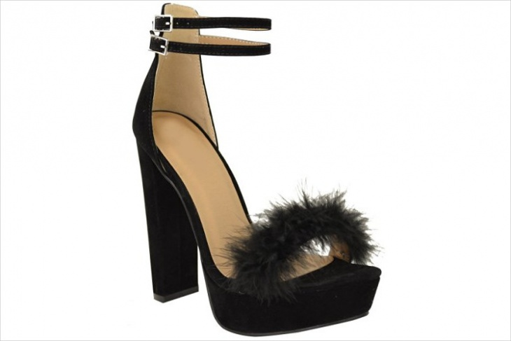 Fur High Heel Shoes