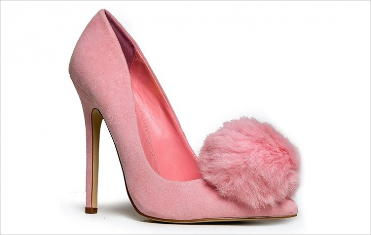 Fur Pump Shoes Model