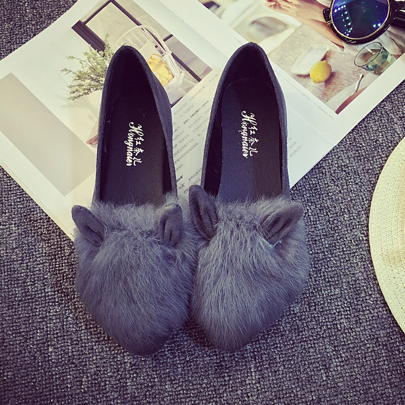 Slip on Fur Shoes Design