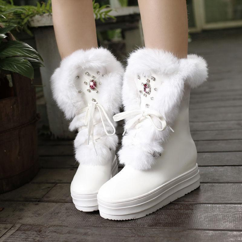 Cute Fur Ankle Boots