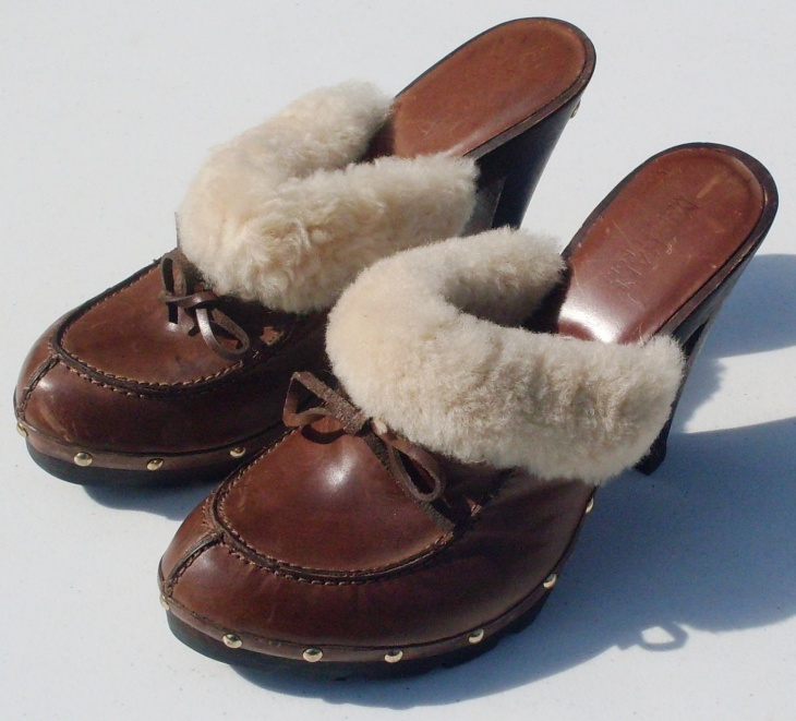 Faux Leather Fur Shoes