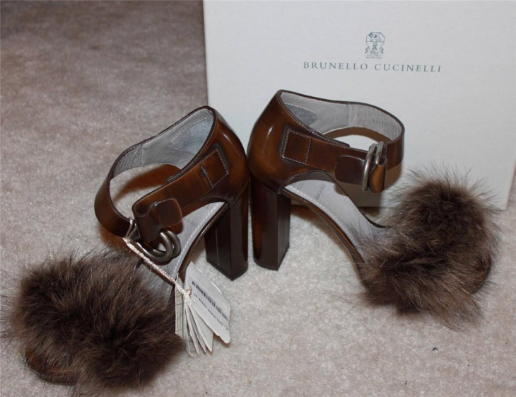 Women Fur Heel Shoes