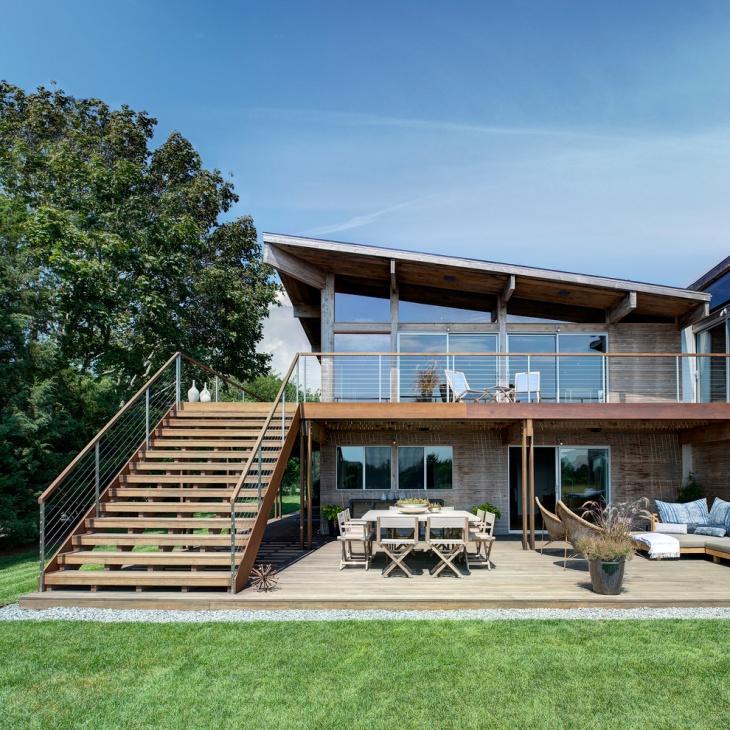 outdoor stair railing design idea