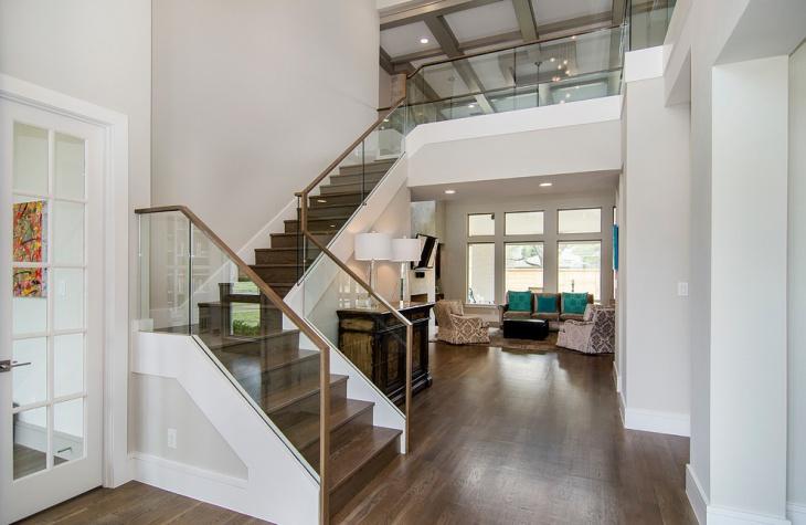 glass stair railing design