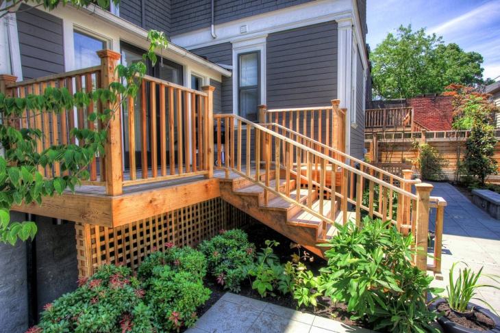 deck stair railing idea