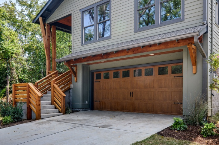 garage stair railing