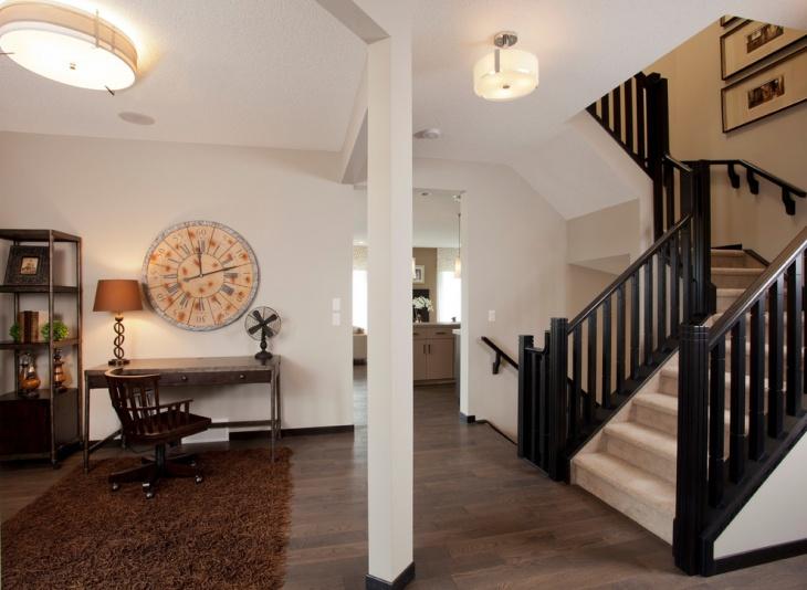 staircase black railing idea