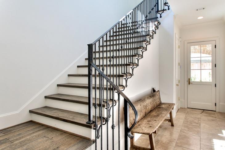 entrance stair railing idea
