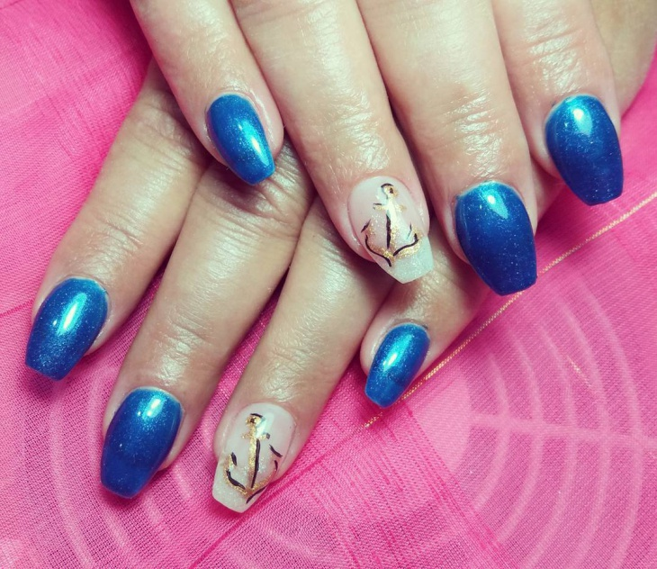 anchor gel nail idea