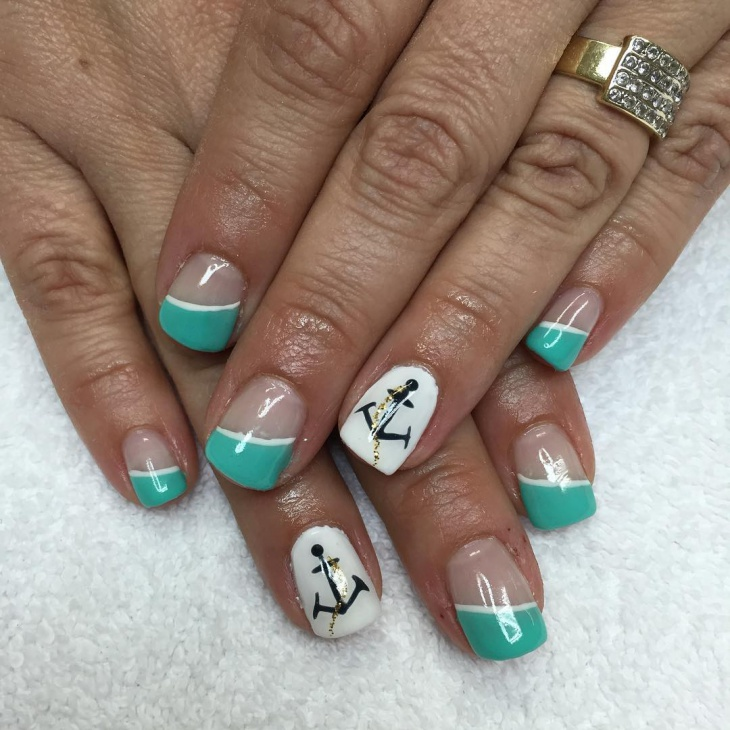 anchor tip nail art