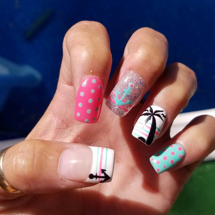 21 anchor nail art designs ideas design trends premium psd summer anchor nail art prinsesfo Gallery