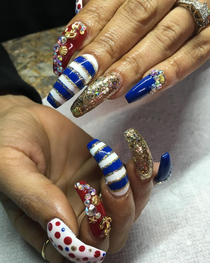 3d anchor nail design