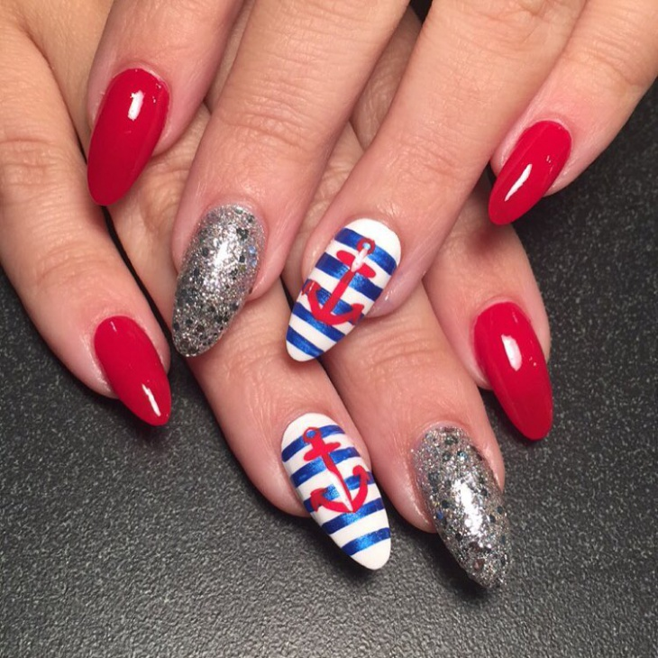 sharp anchor nail design