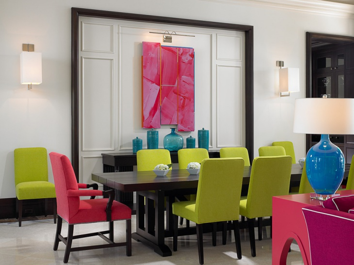 Formal Tropical Dining Room