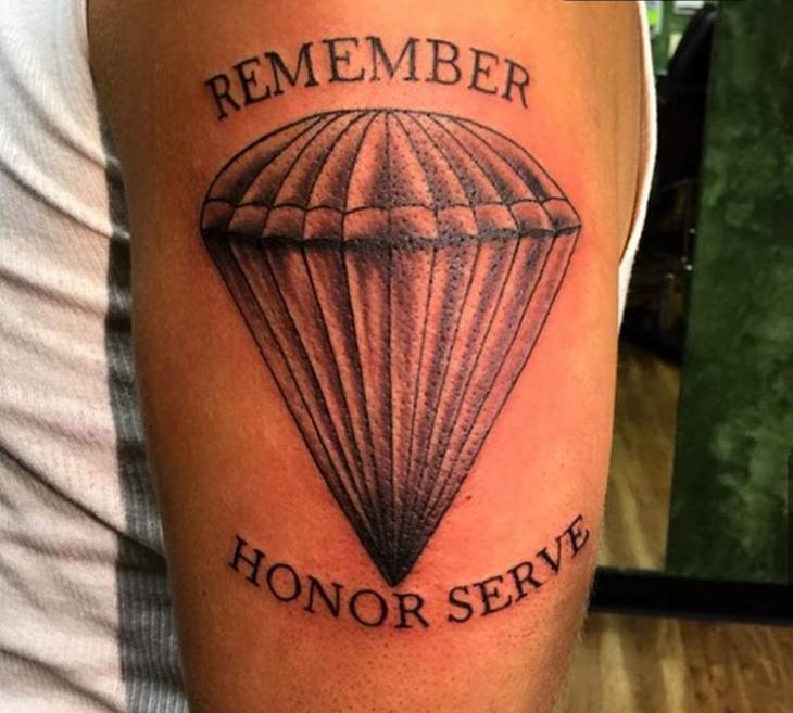 Army Parachute Tattoo Idea