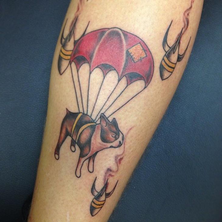 Parachute Dog Tattoo