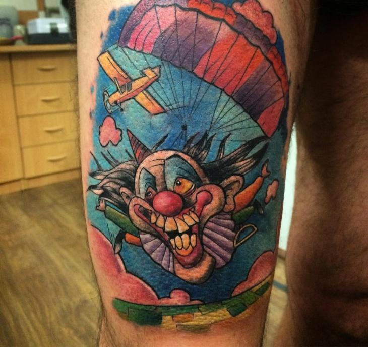 Parachute Tattoo for Thigh