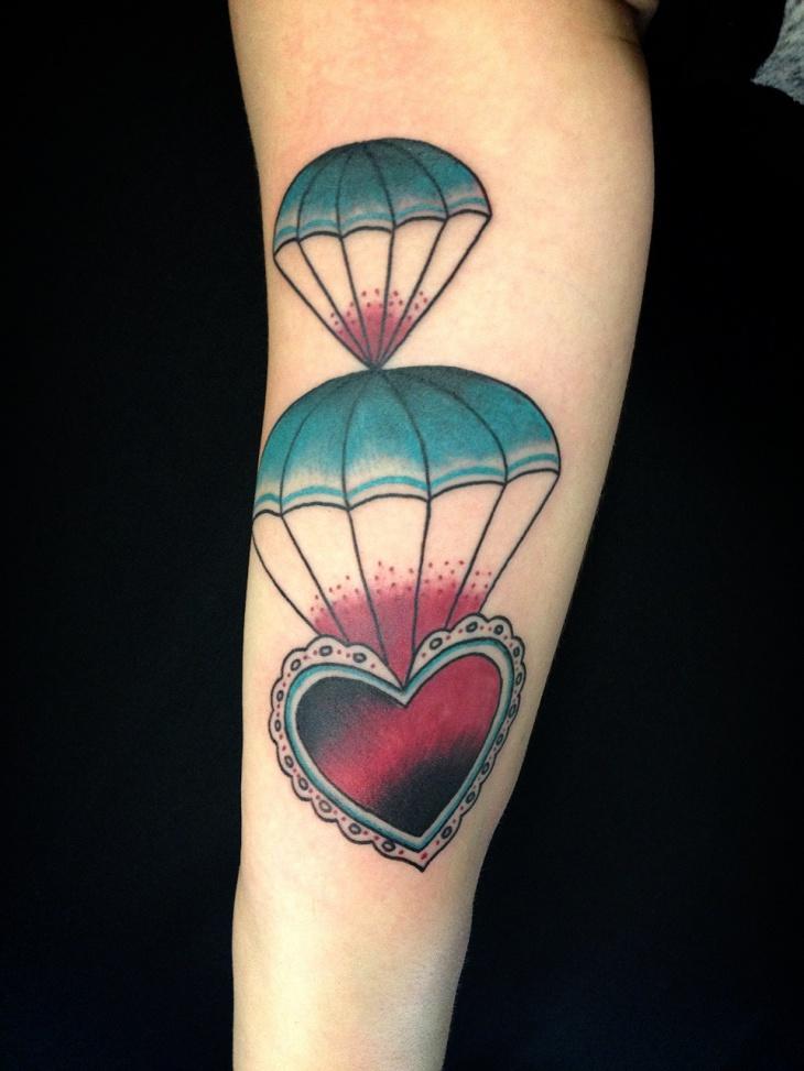 14 Parachute Tattoo Designs Ideas Design Trends