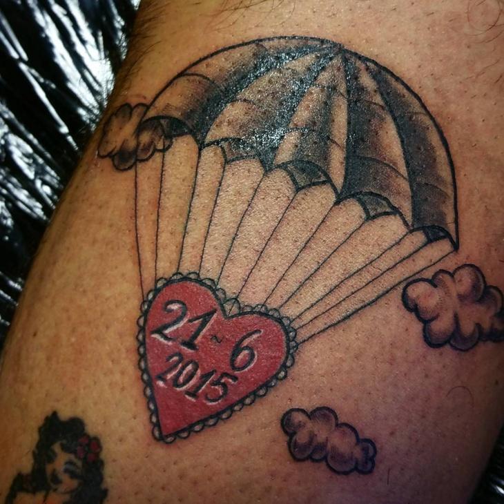 Cloud Parachute Tattoo