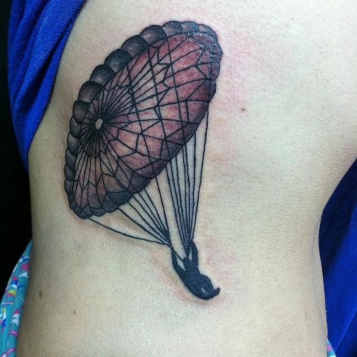 Parachute Tattoo for Ribs