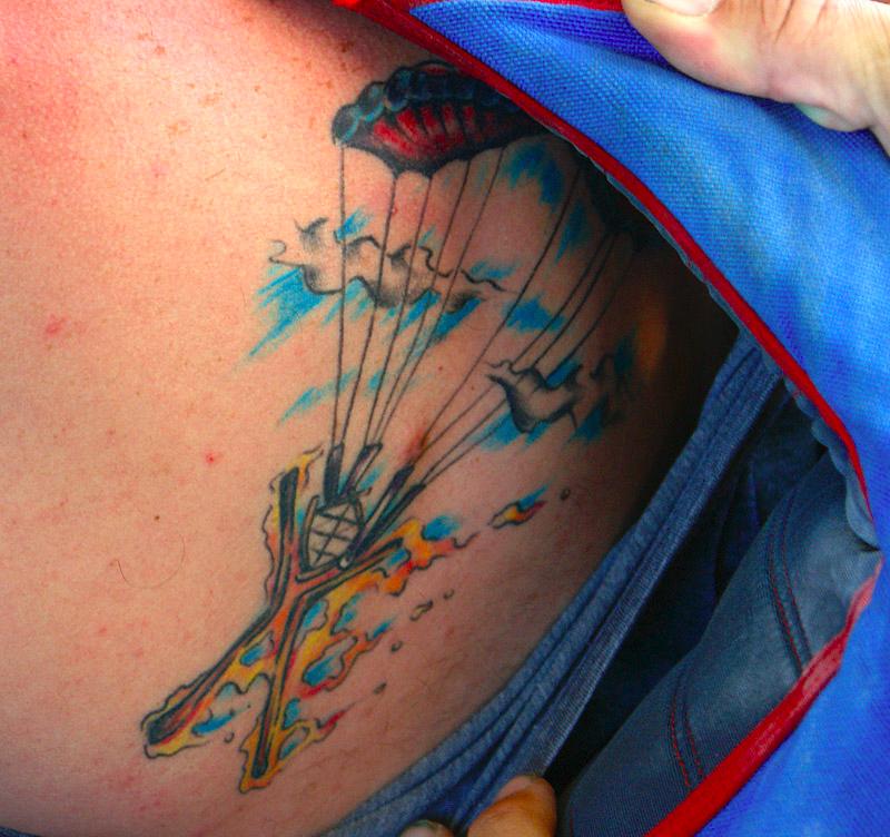 Simple Parachute Tattoo