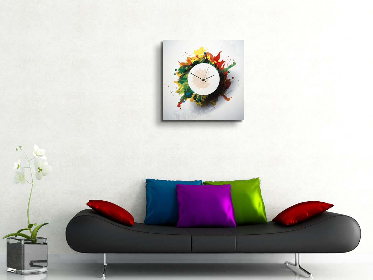 colorful contemporary wall clock