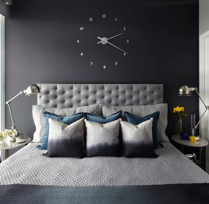 contemporary black wall clock