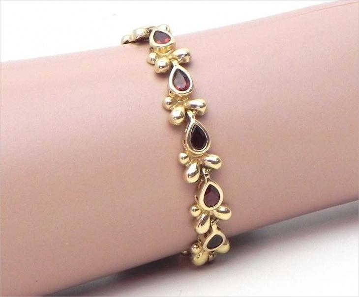 floral garnet bracelet