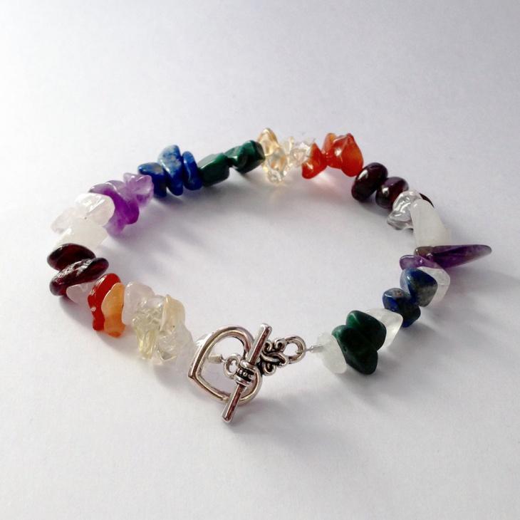 rainbow garnet bracelet