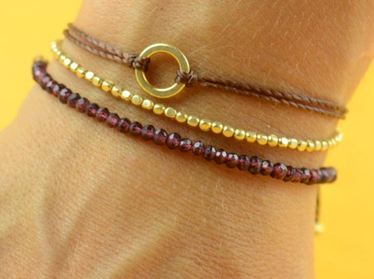 garnet bracelet for men