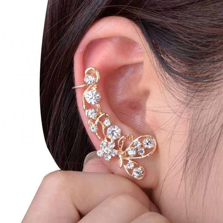 rhinestone wrap earrings