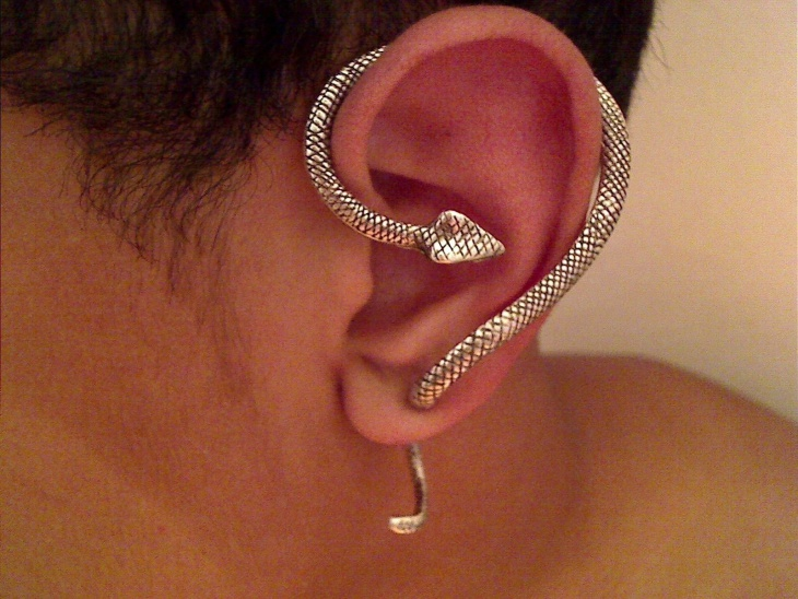 Snake Wrap Earrings Design