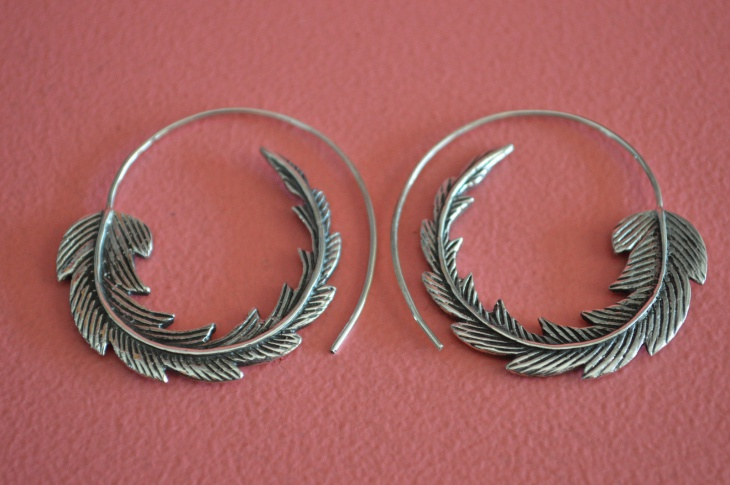 wrap hoop earrings