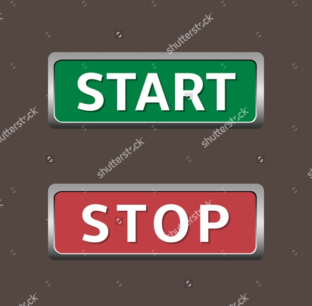 Red and Green Start and Stop Buttons