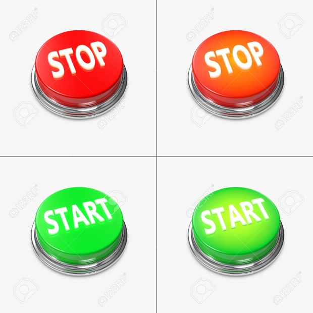 Red and Green Start and Stop Alert Buttons