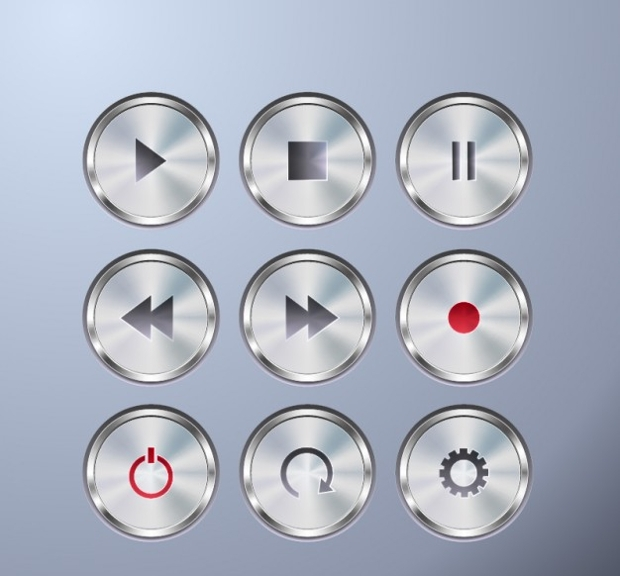 Metallic Shiney Stop Buttons