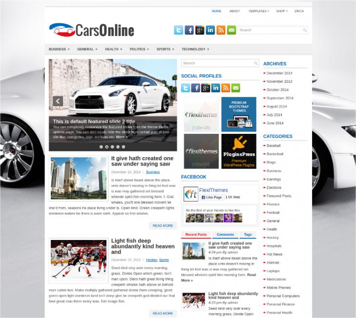 Online Free Car Dealer WordPress Theme