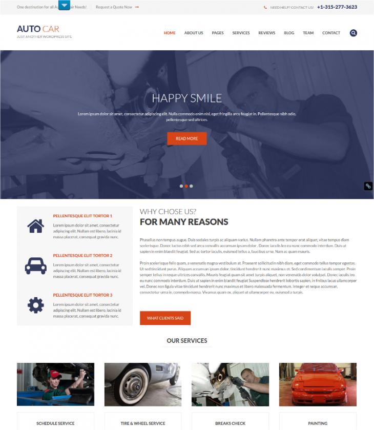 Multilingual Car Dealer WordPress Theme