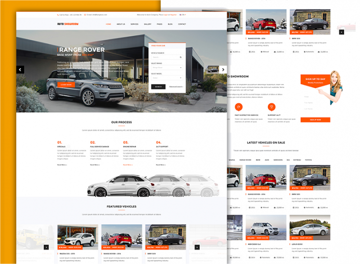 simple car dealer wp theme