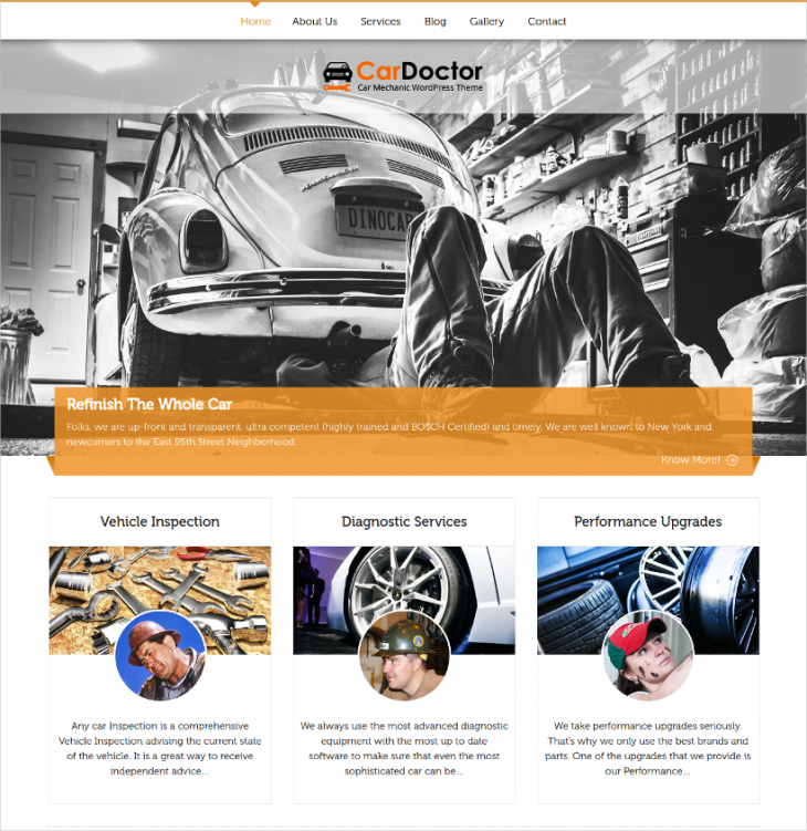 custom widget car dealer wordpress template