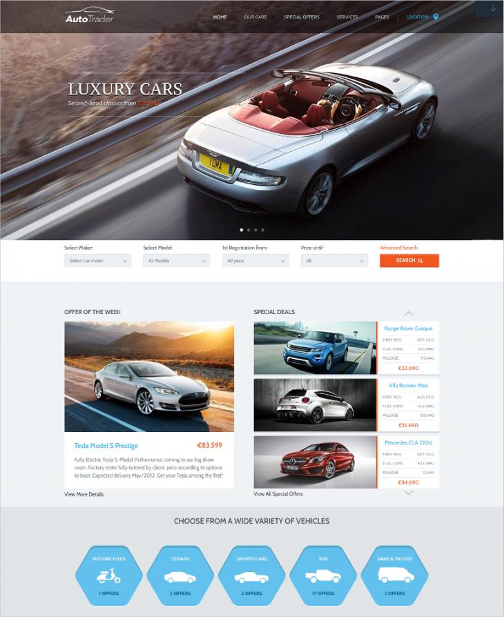 stunning responsive auto dealer wordpress theme