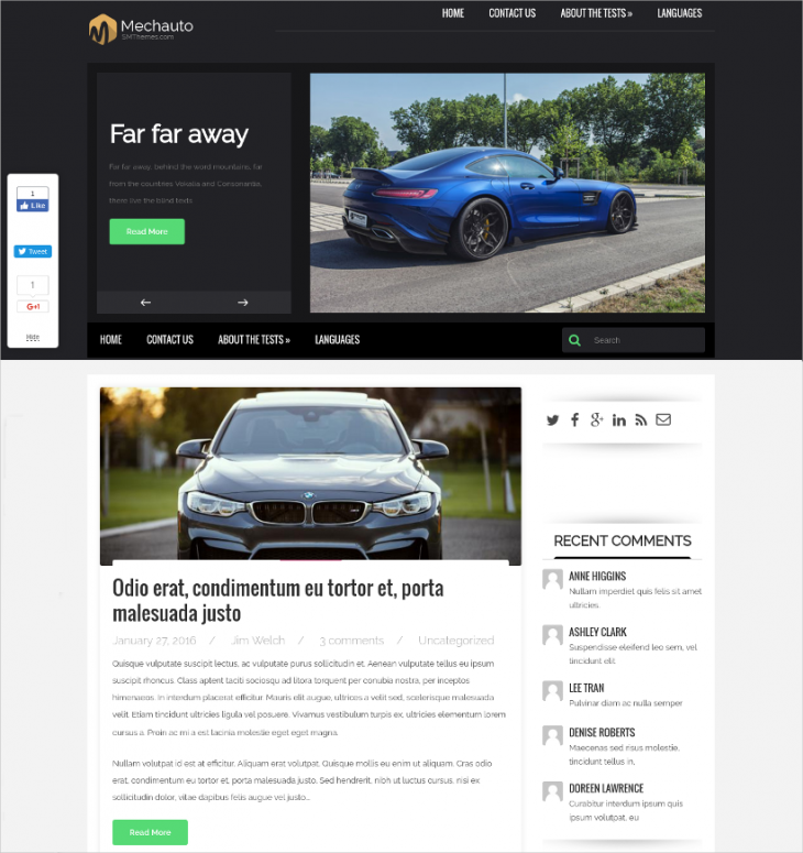 free car dealer wordpress theme
