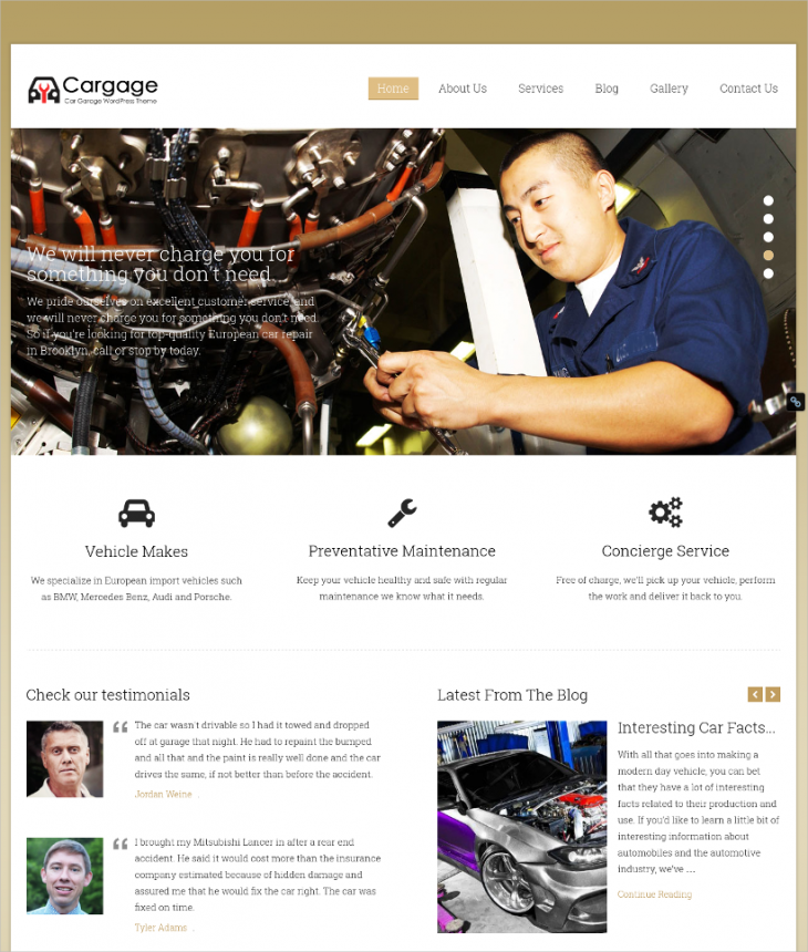 Multi Concept Automobile Dealer WP Theme