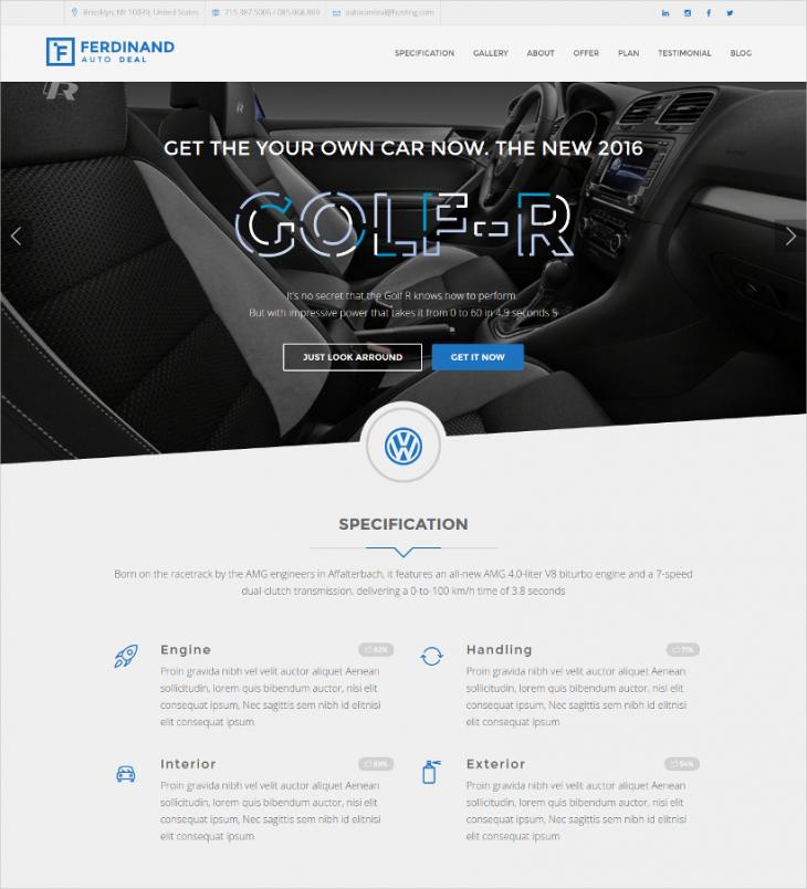 Clean & Simple Auto Car Deal WordPress