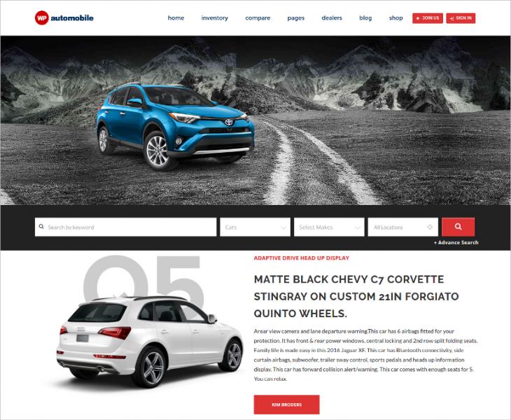 Incredible Car Dealer WordPress Template