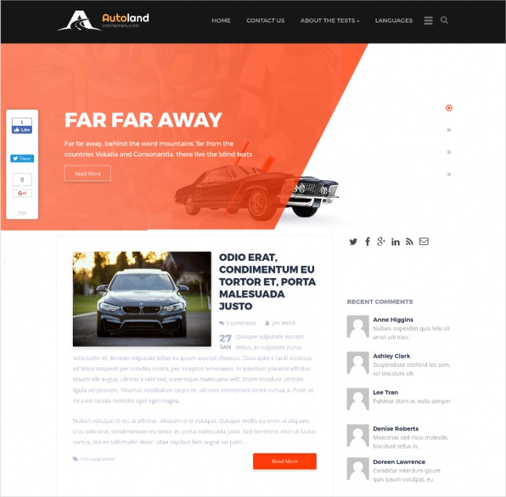 stylish car dealer wp template