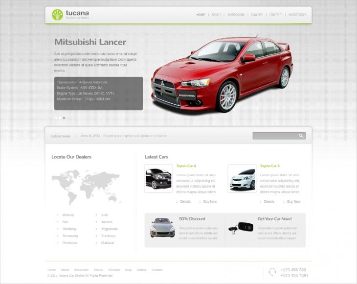 Full Featured Car Dealer WordPress Template