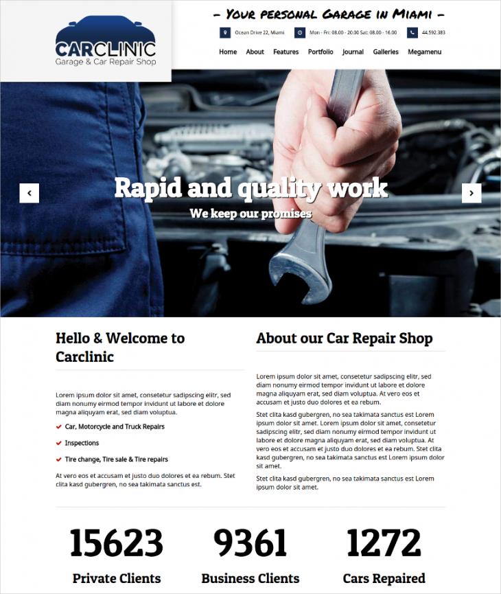 modern car dealer wordpress template