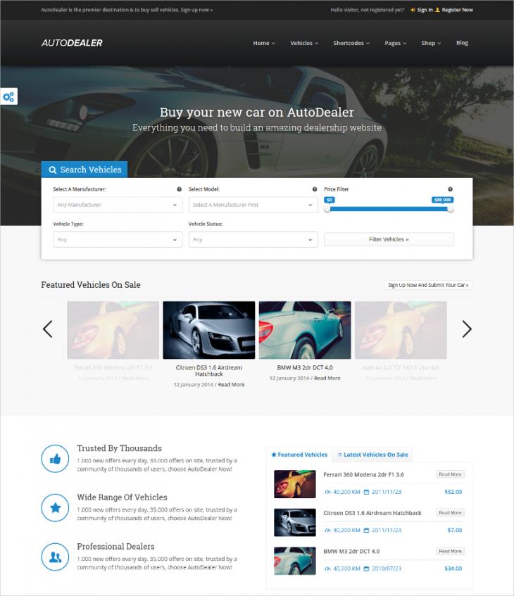 WPML Ready Car Dealer WordPress Theme